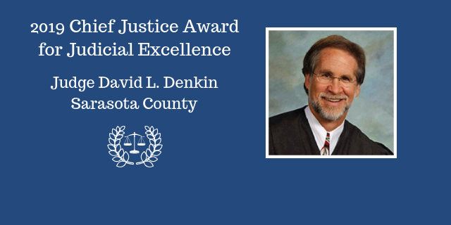 Judge David L. Denkin awarded for Judicial Excellence