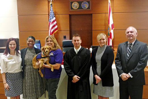 In 2017, Chief Judge Elizabeth A. Metzger, Nineteenth Circuit (second from right), visited the Seventeenth Circuit
