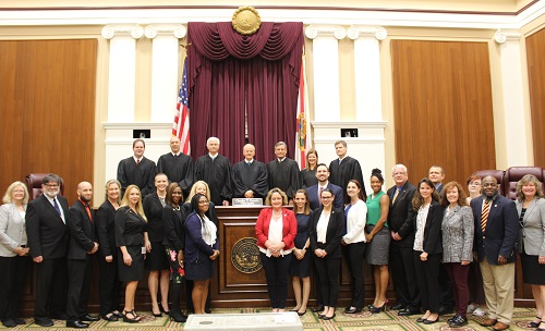 Photo of Justices and Teachers at the Teaching Institute